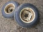 Sears Craftsman Tractor Mower ST/10 Carlisle Rear Turf Tires Rims 23X8.50-12