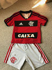 Flamengo Home Player Adidas RedSoccer Football Jersey Brazil Peugeot 24 Mo 2T
