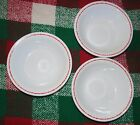 Corelle St. Nick Cereal Soup Bowls Lot Of 3 Sponge Santa Holiday Discontinued