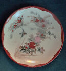 JAPANESE RED KUTANI HAND PAINTED SHALLOW PORCELAIN BOWL AESTHETIC MEIJI PERIOD