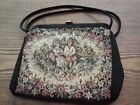 Vintage Floral Brocade Tapestry Bag Purse
