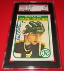 1982-83 O-Pee-Chee Neal Broten Signed Rookie Card SGC 80 EX NM 6 Auto 8 Stars RC