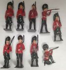 R1089.Lot of 9 lead british soldiers 1950s