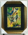 LEROY NEIMAN TENNIS ART PRINT CUSTOM FRAMED AND MATTED TO 16X20