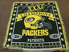 Super Bowl XXXI Champion Green Bay Packers vs New England Patriots Throw Blanket
