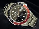 Mens Rolex Stainless Steel GMT-Master II Watch Oyster COKE Red & Black 16710