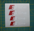 Set Of 4 X Audi S Line Brake Caliper Decal Stickers Fits S3 S4 S5 S6 S7 S8
