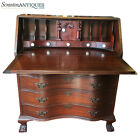 Antique Chippendale Style Furniture Serpentine Drop Front Secretary Desk