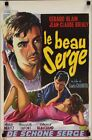 Le BEAU SERGE Belgian movie poster CLAUDE CHABROL NOUVELLE VAGUE 1959 RARE NM