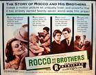 ROCCO AND HIS BROTHERS half sheet movie poster 22x28 VISCONTI ALAIN DELON