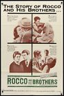 ROCCO AND HIS BROTHERS one sheet movie poster 27x41 VISCONTI ALAIN DELON