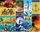NEW ASSORTED BEACH SCENES CUTE 100 COTTON BEACH POOL BATH TOWELS 30 x 60 PALM