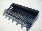 Bobcat Skid Steer Attachment 72 Rock Bucket with Teeth Shipping Cost 149