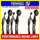 YAMAHA YZF600R THUNDERCAT 1996-03 VENHILL F&R s/steel braided brake line set BLK