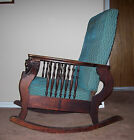 MORRIS COOK VINTAGE ANTIQUE ROCKER ROCKING CHAIR LION HEAD