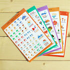 5 Sheets Cute Paper Stickers For DIY Po Album Scrapbook Calendar Diary Set