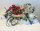 7 lot Vintage Patio christmas Party String Lights with covers angels etc working