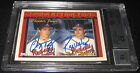 1994 Topps Chipper Jones & Ryan Klesko Signed Card BGS 8.5 JSA 10 Auto Braves