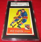1957-58 Topps Bill Gadsby Signed Card SGC 70 EX+ 5.5 Auto 8 Rangers