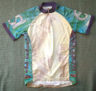 PRIMAL WEAR Old Skool Industries Cycling Jersey Small S Blue Green Purple Yellow