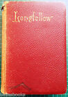 1891 POEMS HENRY WADSWORTH LONGFELLOW LEATHER BOUND WP NIMMO HAY