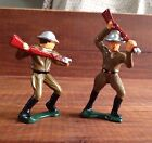 2-Grey Iron Jabbing  With Rifle DimeStore Toy Soldier Barclay Manoil