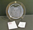 1971 Lalique France Crystal Art Glass Collector Plate Hibou W/Box