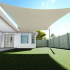 Sun Shade Sail Quadrilateral Permeable Canopy Lawn Patio Pool Garden Cover
