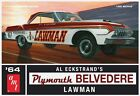 AMT 1:25 1964 Plymouth Belvedere Lawman Plastic Model Kit AMT986