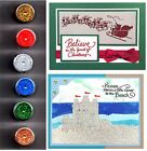 Stampendous TINSEL Glittery Embossing Powder NEW Christmas 6 Colors Cards