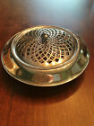 Vintage Wm Rodgers Silver Plate Centerpiece Bowl With Frog Triumph Pattern
