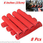 8pc RED 1200 SPARK PLUG WIRE BOOTS HEAT SHIELD PROTECTOR SLEEVE SBC BBC 350 454