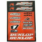 4MX KTM Sticker Decal Sheet Alpinestars Dunlop fits 525 XC Desert Racing 7