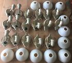 1920's Art Deco 17 Sconce Fixture Huge Lot Wall Sconce Matched Wired Slip Shades