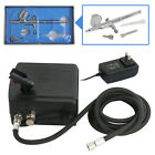 Precision Dual Action AIRBRUSH AIR COMPRESSOR KIT SET Craft Cake Hobby Paint