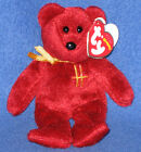 TY OMNIBUS the BEAR KEYCLIP BEANIE BABY - HARRODS EXCLUSIVE - MINT with MINT TAG