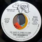 1979 HEADBOYS SHAPE OF THINGS TO COME RSO WHITE LABEL PROMO ROCK 45 RS1005 VG+