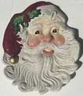 Fitz and Floyd Omnibus Christmas Santa Claus Canape Serving Plates Set Of 2
