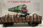 O Scale Trains Lionel ATSF Flat Car 9306 with Horses