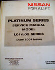 Nissan L01 L02 Series Forklift TRUCK SERVICE MANUAL ELECTRICAL WIRING SCHEMATICS