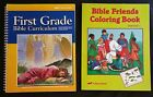 Abeka 1st Grade 1 Bible Curriculum Friends Coloring Activity Book First Beka Lot