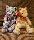 Pair of TY Beanie Babies, Shasta & Corsage Bears, both retired in 2003