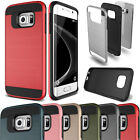 Shockproof Brushed Hybrid Rubber Rugged Case For Samsung Galaxy S Note J Series