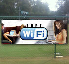 Free Wifi Advertising Vinyl Banner Flag Sign Many Sizes Available Usa