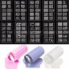 Nail Art Stamp Stencil Jelly Stamper Design Stamping Image Template Plate Set