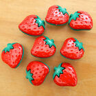 5 X Novelty Fruit Buttons Oranges Strawberry Or Pumpkinshank On Back Of Button