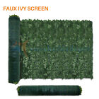 Artificial Green Ivy Leaf Privacy Fence Screen Cover Home Panels Wall Gate Decor