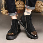 New fashion casual shoes Sequins decoration sneakers side zipper shoes