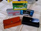 Ammo pouch holds box of 45-70 Gov. and more handmade in USA  real leather!
