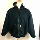 Vtg 2XL Carhartt Blanket Lined Denim Jean Trucker Motorcycle Chore CoAt JaCkEt